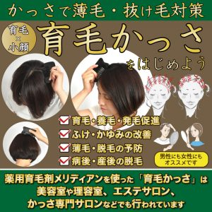 育毛かっさで薄毛・抜け毛を改善しながら小顔に